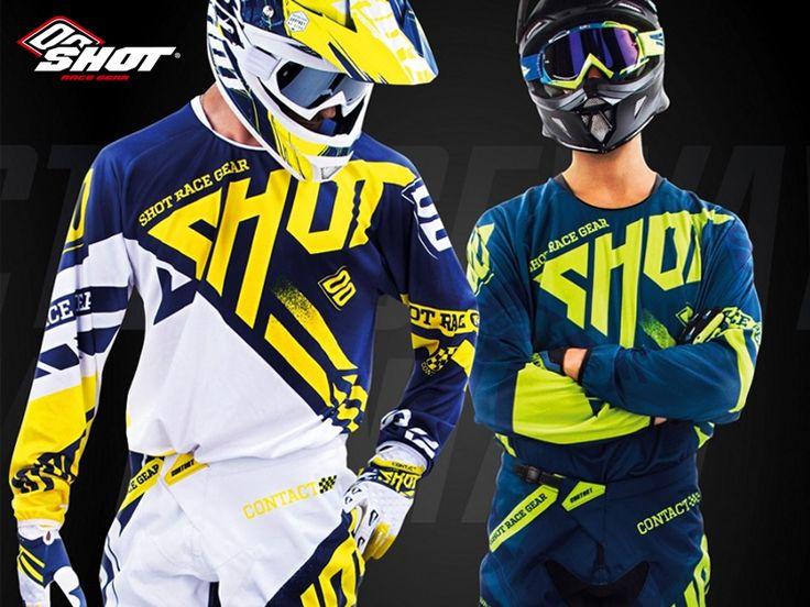 The Contact Raceway Gear constructed from the finest handpicked materials and designed to meet the most challenging racing conditions. Featuring Anatomic design for maximum flexibility, Sublimated printing to prevent color fade, Velcro brand adjustable wrist closure and more!  Check out the #Haustrom online store for more Shot MX Race Gear Collection!  #ShotRaceGear #offroad #dirtbike #motocross #mx #motox #motorcyclegear #offroadriding #offroadgloves #mensjerseys #offroadjerseys #menspants…