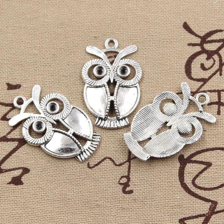 99 Центов 4 шт. Подвески большие глаза сова 34*21 мм Античный кулон, Винтаж Тибетского Серебра, DIY для браслет ожерельекупить в магазине 99Cents DIY Jewelry ShopнаAliExpress