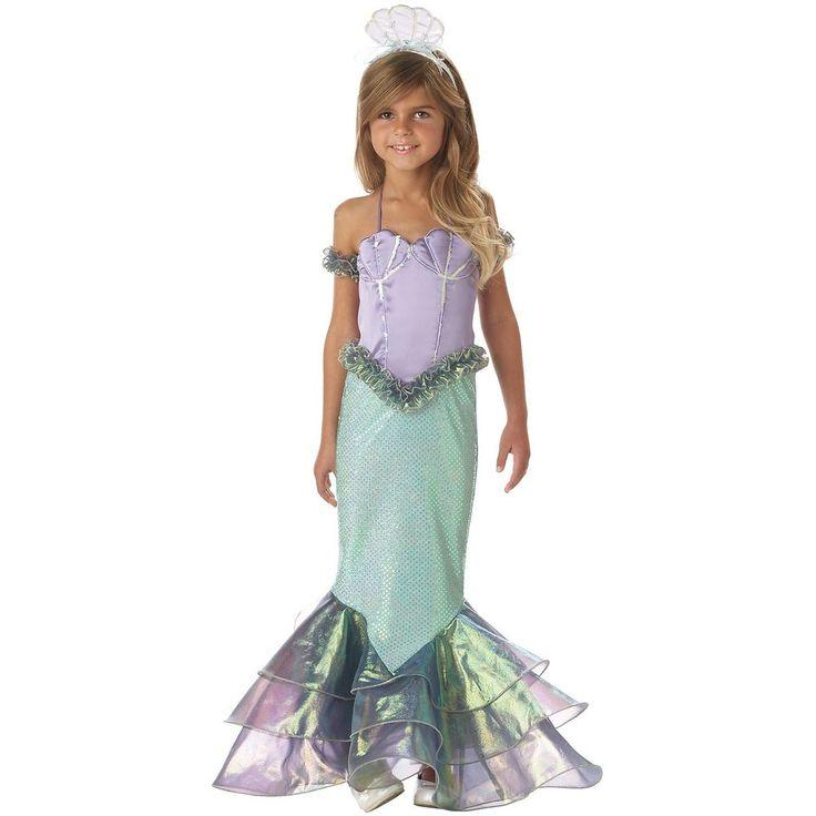Mermaid Costume Girls Kids Halloween Fancy Dress in Clothing, Shoes & Accessories   eBay