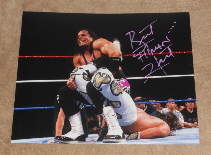 WWE WWF BRET HITMAN HART SIGNED AUTOGRAPHED 8x10 PHOTO COA exact proof A