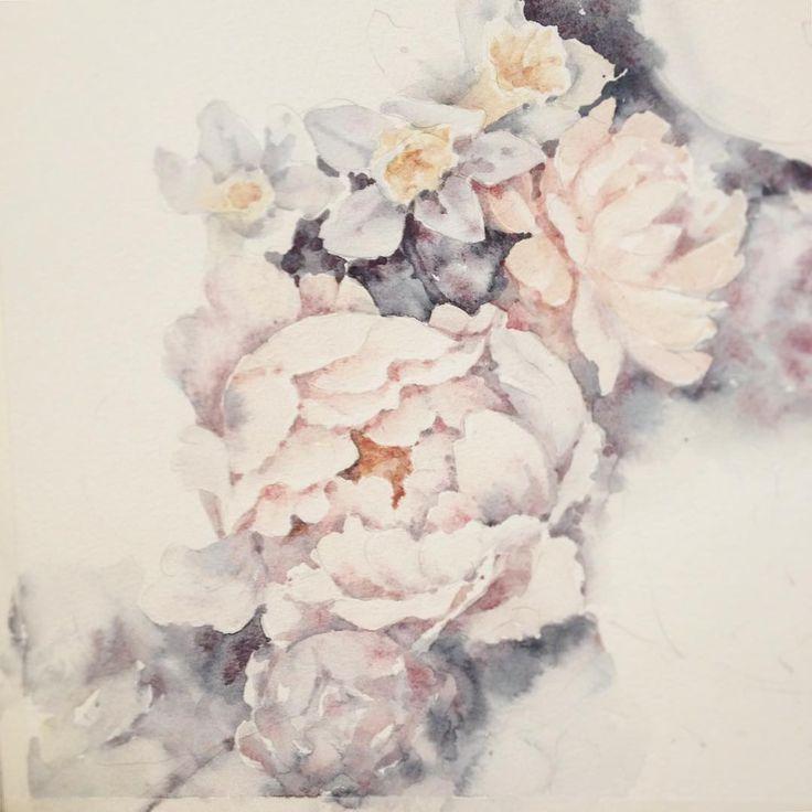Доброго воскресного утра, друзья ☀️ пусть этот день будет особенным для вас ✨ Vintage flowers in a process