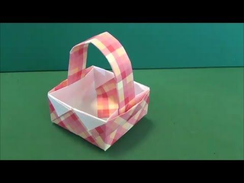 """「バスケット」折り紙""""Basket""""origami - YouTube"""