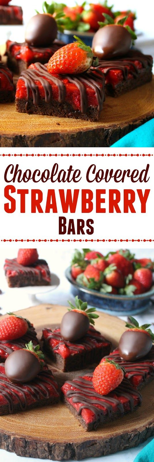 Love and Confections: Chocolate Covered Strawberry Bars