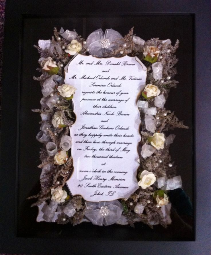 Wedding Invitation Gifts Ideas: 15 Best Wedding Invitations Framed Keepsake Images On