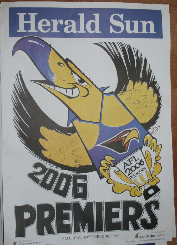 Weg Premiers Poster 2006 West Coast Eagles