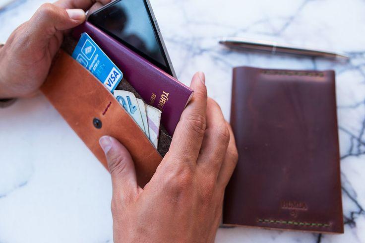 Kahverengi Pasaport Kılıfı