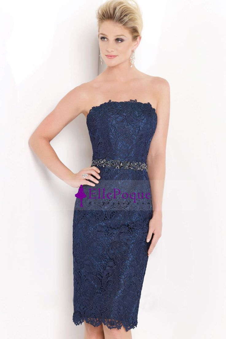 Sheath/Column Strapless Mother Of The Bride Dresses Lace