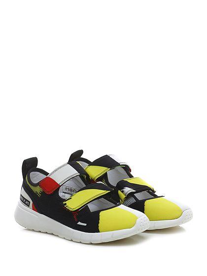 Moa - Sneakers - Donna - Sneaker in tessuto elasticizzato e retina con suola in gomma light. - BLACK\MULTICOLOR - € 135.00