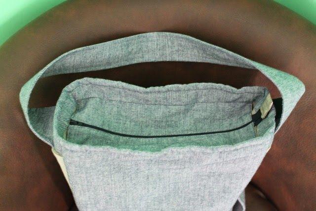 Creatief met textiel van Zeeman: hippe schoudertas Stof: tafellaken van Zeeman Patroon: Recept 12 uit Zo geknipt 2