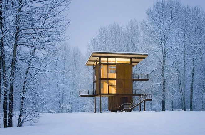 Steel weekend cabinDelta Shelters, Architects, Winter Cabin, Living Large, Modern Cabin, Washington States, Architecture, House, Olson Kundig