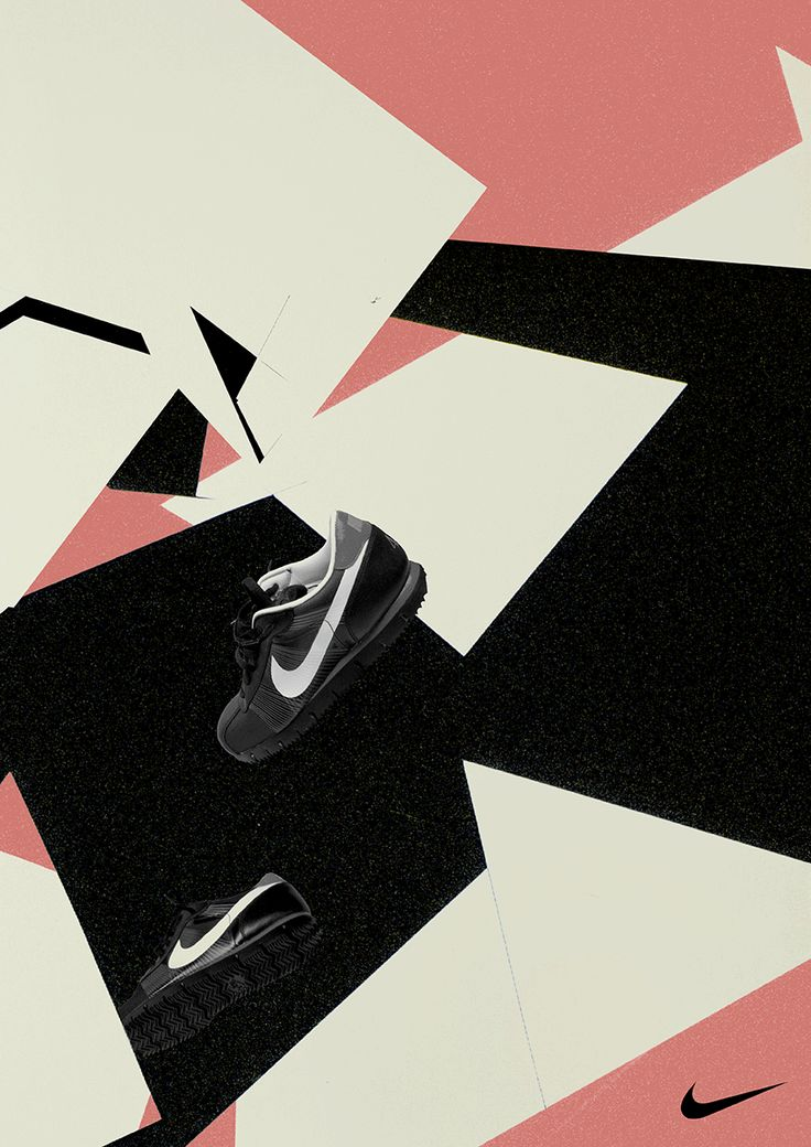 editorial design for nike sport shoes