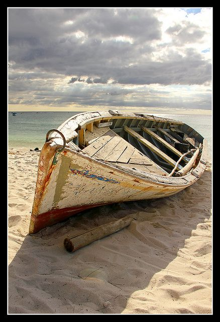 Mauritius - old battered boat on the beach 1 in 2019 | Sea is my life . | Boat art, Boat ...