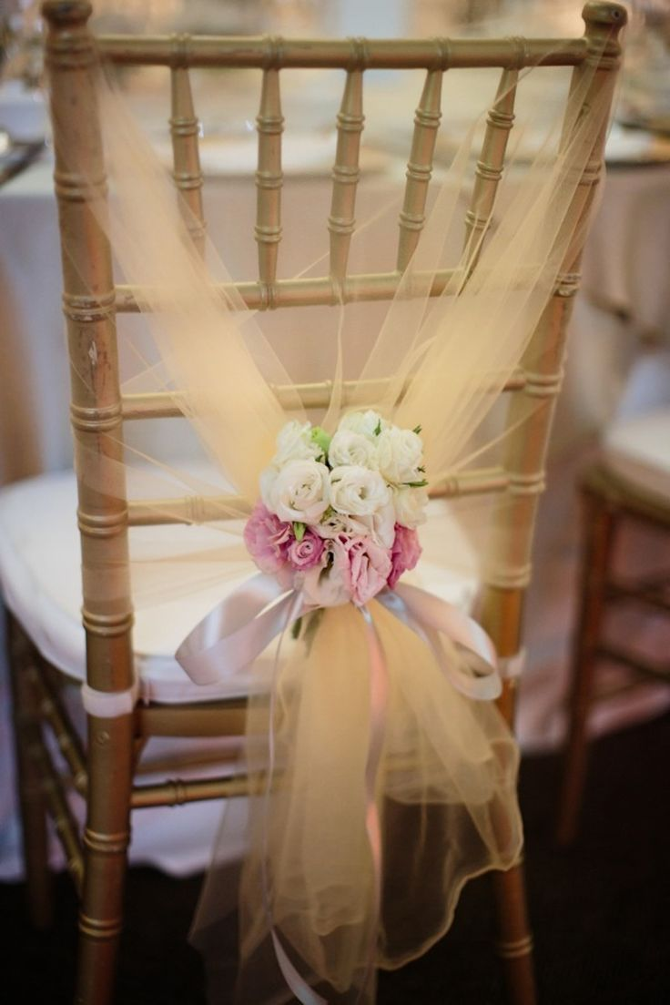 Tulle chair decor. A Romantic Capella Wedding filled with Baby's Breath: Dylan and Robyn #singapore #singaporewedding