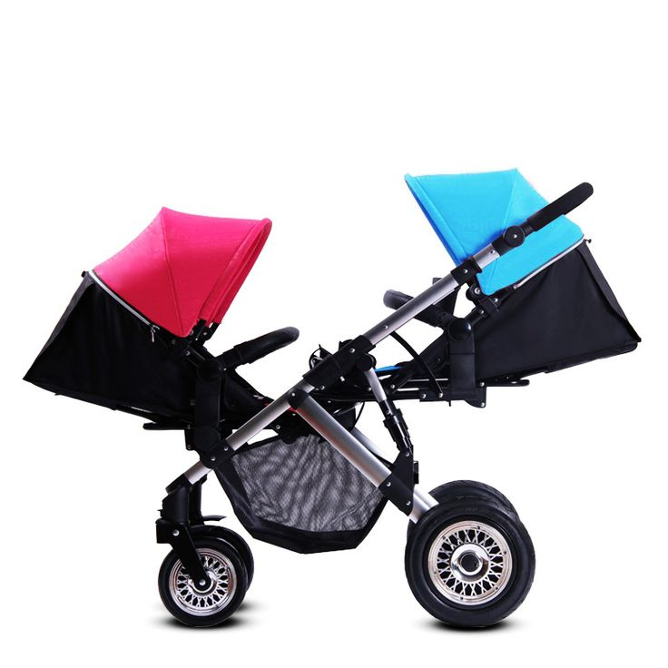 High Landscape Strollers for Twins,Hot New Style Folding Double Baby Stroller,Baby Prams Twins Kids Baby Cart Pushchair Carriage