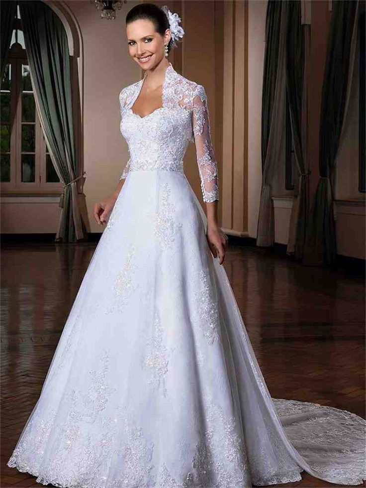 Modest Wedding Dresses With 3 4 Sleeves