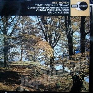 BEETHOVEN SYMPHONY No. 9 CHORAL GUEDEN/WAGNER/DERMOTA/WEBER WIENNA PHILHARMONIC ERICH KLEIBER ECS 501