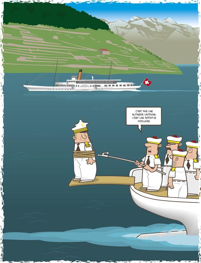 C'est pas une mutinerie capitaine, c'est une initiative populaire. © Christophe Bertschy