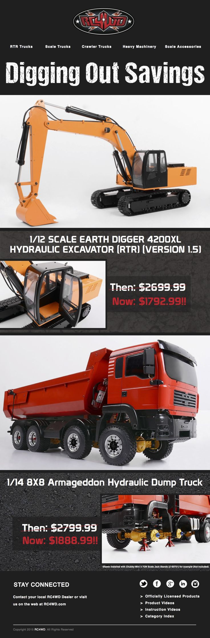 Our 1 12 scale earth digger 4200xl hydraulic exacavator rtr and 1
