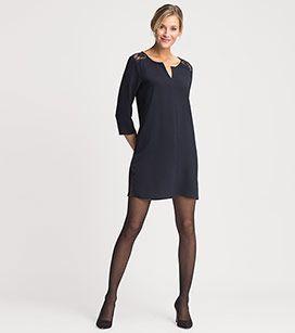 Kleid in der Farbe dunkelblau bei C&A