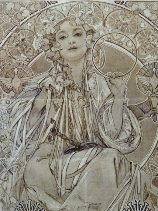Alfons Mucha at the Gallery of Art, Prague - Image 7