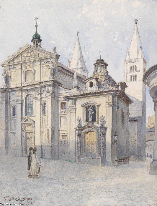 Georgsbasilika Prag de Vaclav Jansa (1859-1913, Czech Republic)