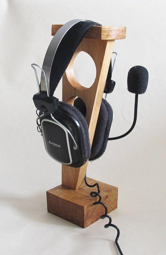 Support bois casque porte-casque en bois casque en par Vishemir