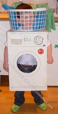 Washing Machine Halloween Costume: My wee boy, Cooper, is washing machine daft. He knows all the makes and loves looking at them in books etc. We decided to make him a washing machine