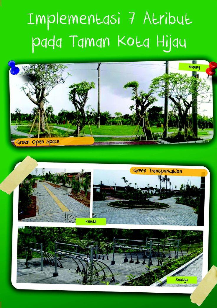 Implementasi 7 Atribut pada Taman Kota Hijau