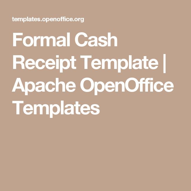 25+ parasta ideaa Apache Openoffice Pinterestissä - cash receipt