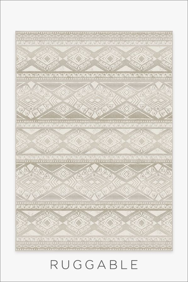 Our Suku Grey Rug Features Tribal Bands Of Geometric Repeat