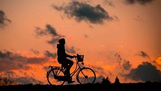 Silhouette, Fitness, Bless You, Bike