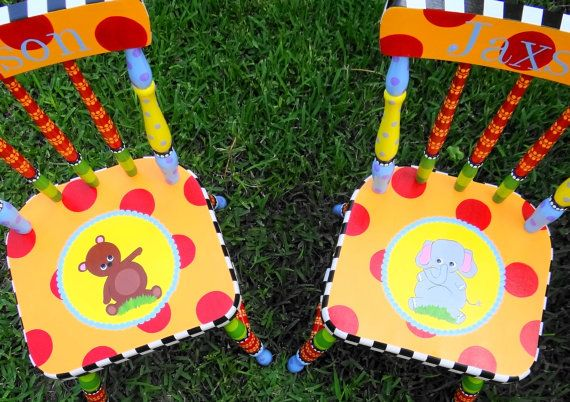 Little Child's Chair For Boys or Girls Custom by elliesshop