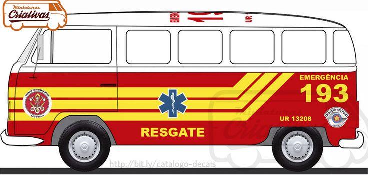 Viatura Kombi standard resgate 193 bombeiros
