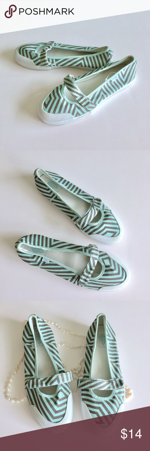 VANS Ballerina Flats Beautiful flats by Vans, worn one time. In mint condition. Size 8.5    Check out my closet bundle and give me your offer! Vans Shoes Flats & Loafers