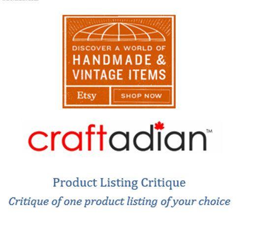 Product Listing Critique  Mini Critiques  Etsy Shop by craftadian