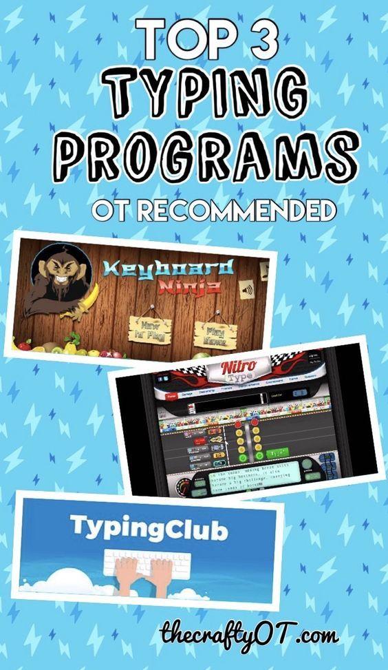Top 3 Typing Programs   OT Stuff   Typing programs for kids, Typing