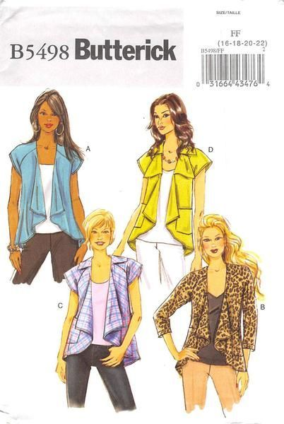 Semi-fitted jackets A, B, C, D are tunic length at back with raglan sleeves in short or three-quarter length, stitched, shaped hem draping shorter in front. B, C, D: patch pockets. C: collar. D: colla