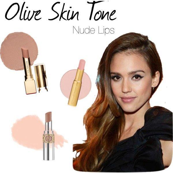 Olive skin tone nude lipstick color