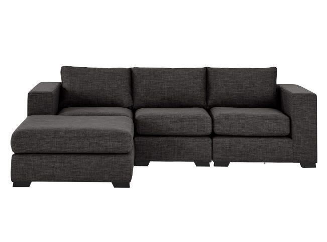 Mortimer 4 Seater Modular Corner Sofa, Seal Grey