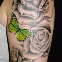 Steel Rain Tattoo Studio - Abstract Tattoo | Big Tattoo Planet LOVE THE GREEN