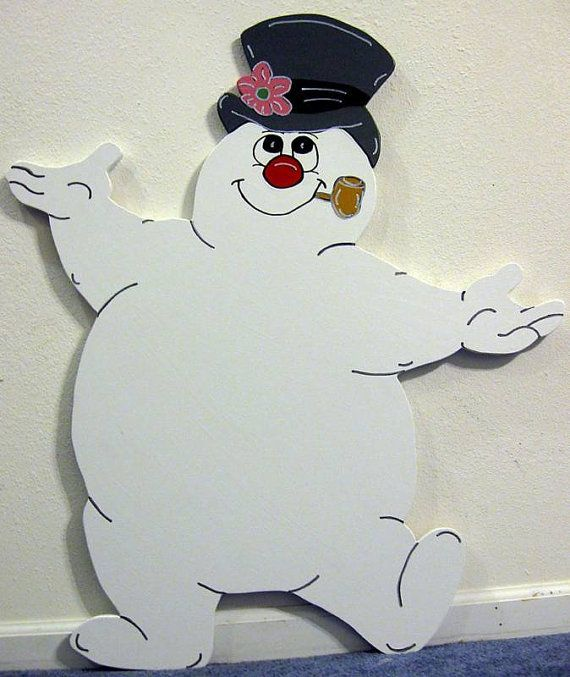 Frosty Snowman Winter Christmas Yard Art by DestinysCustomDesign, $89.00