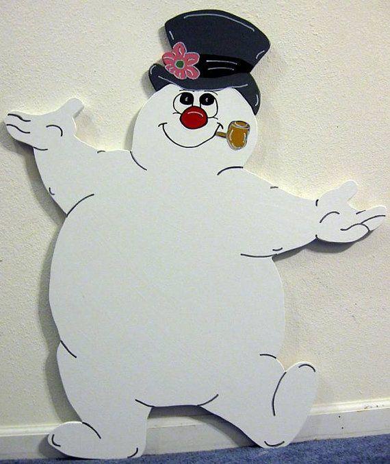 Frosty Snowman Winter Christmas Yard Art by DestinysCustomDesign, $89.00
