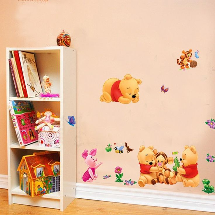 Cheap sticker tattoo, Buy Quality stickers nice directly from China sticker computer Suppliers: PVC Cartoon Baby Winnie the Pooh Wall Stickers for Kids Baby Rooms Decoration Wall Decal Art Anime Poster Wallpaper KidsTC989