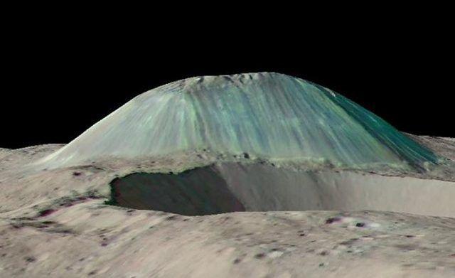 Pourquoi le volcan de glace de la planète naine Cérès est-il si seul ?