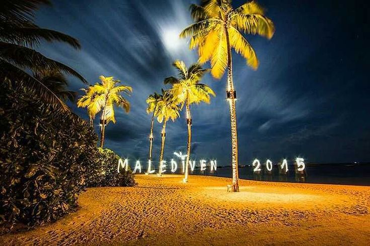The Maldives Islands | Happy New Year. Kuredu Island Resort  #happyholidays #happy #happynewyear #newyear #goodbye2015 #welcome2016 #special #lights #beach #palms #kuredu #celebration #travel #hotel #bliss #happiness #new #days #year #nature #perfect #maldiven