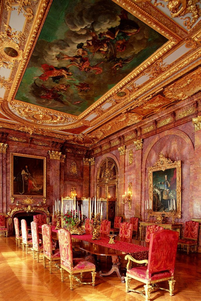 Dining Hall at Marble House in Newport , Rhode Island, HAS to be experienced to really understand how opulent it is!