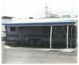 Toy Hauler Add A Wall / Room RV Screen Awning for Trailer ...