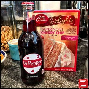 Dr. Pepper Cherry Chip Cake.