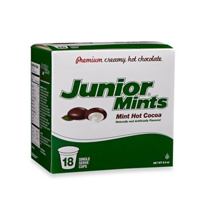 18-Count Junior Mints® Mint Hot Cocoa for Single Serve Coffee Makers - BedBathandBeyond.com