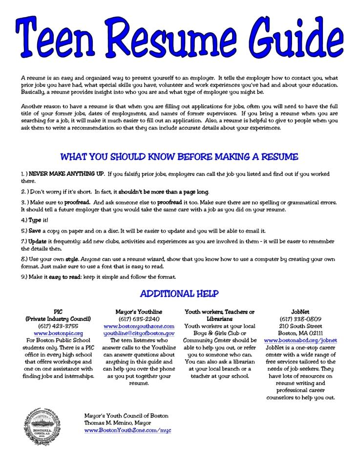 5 Resume for Teens Sample Sample Resumes resume examples office